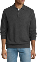 Neiman Marcus Cashmere Polo Sweater, Charcoal