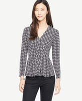 Ann Taylor Tulip Pleated Flare Top