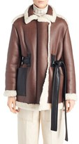 Acne Studios Women's 'Fayette' Oversize Genuine Shearling Coat
