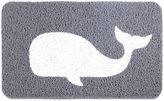 Kikkerland 18-Inch x 36-Inch Whale Door Mat in Grey