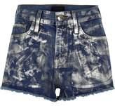 River Island Womens Mid blue metallic paint denim hot pants