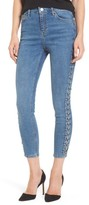 Topshop Women's Jamie Side Lace-Up Skinny Jeans