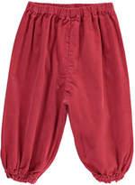 Bonton Gaufre Velvet Harem Trousers