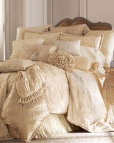 Jane Wilner Designs Lattice-Textured Standard Sham with Ruffle
