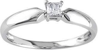 Stella Grace 10k White Gold 1/10 Carat T.W. Diamond Solitaire Engagement Ring