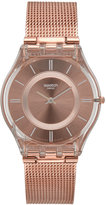 Swatch Women's Swiss Core Pink Gold-Tone PVD Stainless Steel Bracelet Watch 34mm SFP115M
