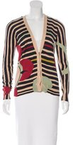Christian Lacroix Abstract Pattern V-Neck Cardigan