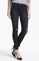Lucky Brand 'Sofia' Destroyed Ankle Zip Skinny Jeans (Secession)