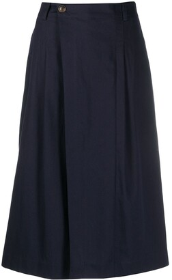 Vince High-Waisted Drape Skirt