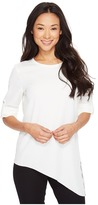 Calvin Klein Roll Sleeve with Angle Bottom Blouse Women's Blouse