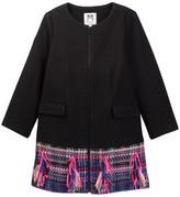 Milly Minis Combo Tweed Coat (Big Girls)