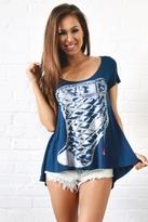 Lauren Moshi Loubi Tail Swing Tee in Royal Blue