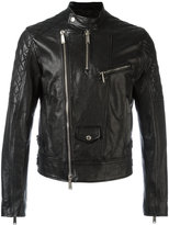 DSQUARED2 quilted jacket - men - Calf Leather/Cotton/Polyester - 52