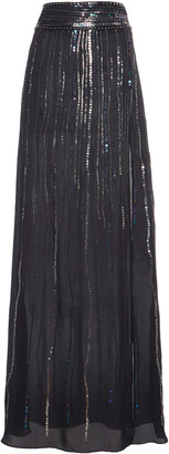 Dundas Sequin-Embellished Silk Georgette Maxi Skirt