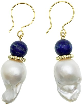 Farra Baroque With Lapis Simple Earrings