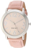Nine West Women's Quartz Metal and Polyurethane Dress Watch, Color:Pink (Model: NW/1773LPLP)
