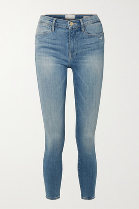 Frame Le High Mid-rise Skinny Jeans - Blue