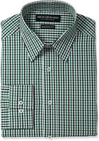 Nick Graham Men's Gingham Cotton Dress Shirt