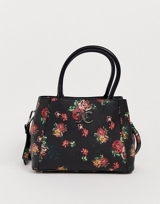 Juicy Couture Floral Tote Bag-Black