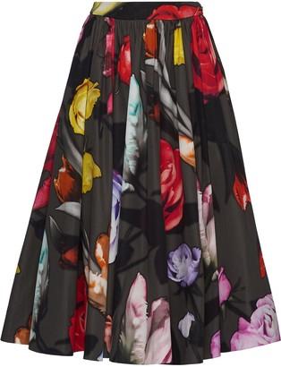 Prada Floral Midi Skirt