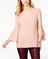 Charter Club Cashmere Ruffle-Sleeve Sweater, Created for Macy's