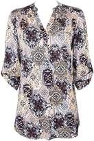 Neutral paisley print shirt