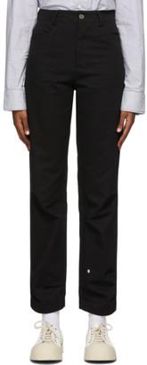 Ader Error Black Crumple Trousers