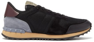 Valentino Rockrunner Contrast Panel Low Top Trainers - Mens - Black Multi