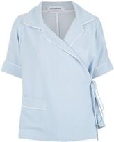 Olympiah wrap style shirt