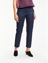 Max Studio Stretch Sateen Trousers, Dark Navy