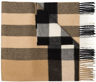 Burberry Mega Check pattern scarf