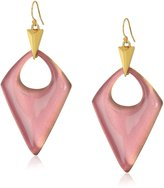 Alexis Bittar Pointed Pyramid Rose Drop Earrings