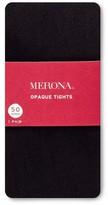 Merona Women's Plus-Size Footless Tights Opaque 50 Denier Black 2X