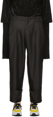 Comme des Garcons Black Twill Trousers