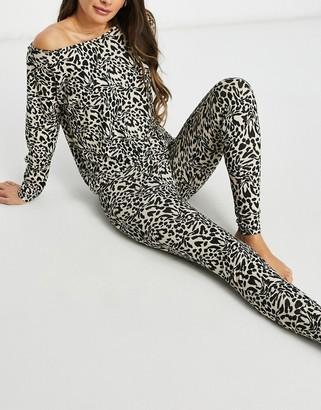 ASOS DESIGN mix & match leopard print pyjama legging in multi