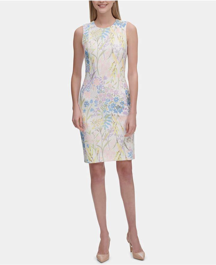 d93c8992 Calvin Klein Sleeveless Sheath Dresses - ShopStyle