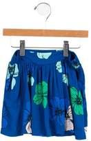 Chloé Girls' Floral Print Mini Skirt