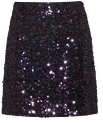 HUGO Slim-fit sequinned mini skirt with concealed zip