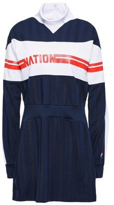 P.E Nation Stroker Ace Printed Jersey-pique Mini Dress