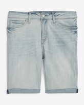 Express Light Wash Jean Shorts