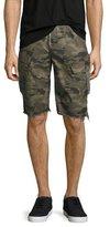 Hudson Camouflage Cargo Cutoff Shorts, Green