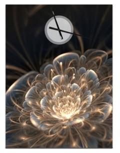 Design Art Designart Oversized Floral Metal Wall Clock