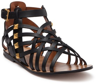 Valentino Leather Caged Studded Sandal