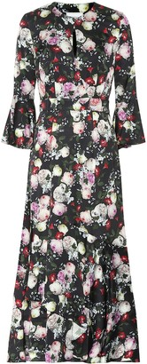Erdem Florence floral satin dress