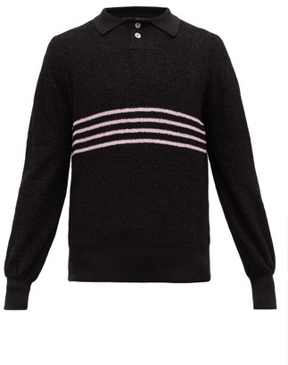 Noon Goons The Donny Striped Boucle Sweater - Mens - Black