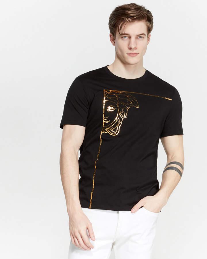 Versace Black Foil Logo Tee
