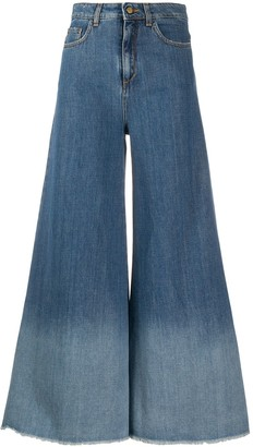 Alysi Wide-Leg Flared Jeans