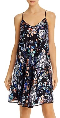 Laundry by Shelli Segal Sequin Embellished Foil Printed Swing Dress - 100% Exclusive