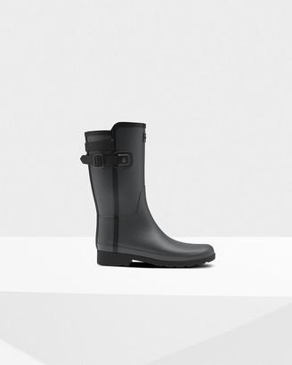 Hunter Women's Refined Slim Fit Contrast Short Wellington Boots