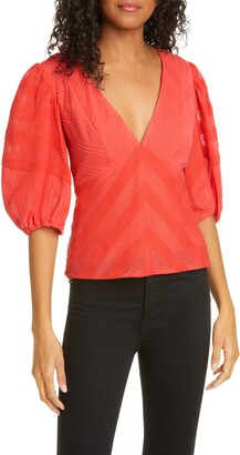 Rebecca Taylor Embroidered Cotton Blouse